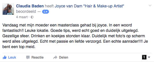 Masterclass Make-up Rotterdam Ervaringen