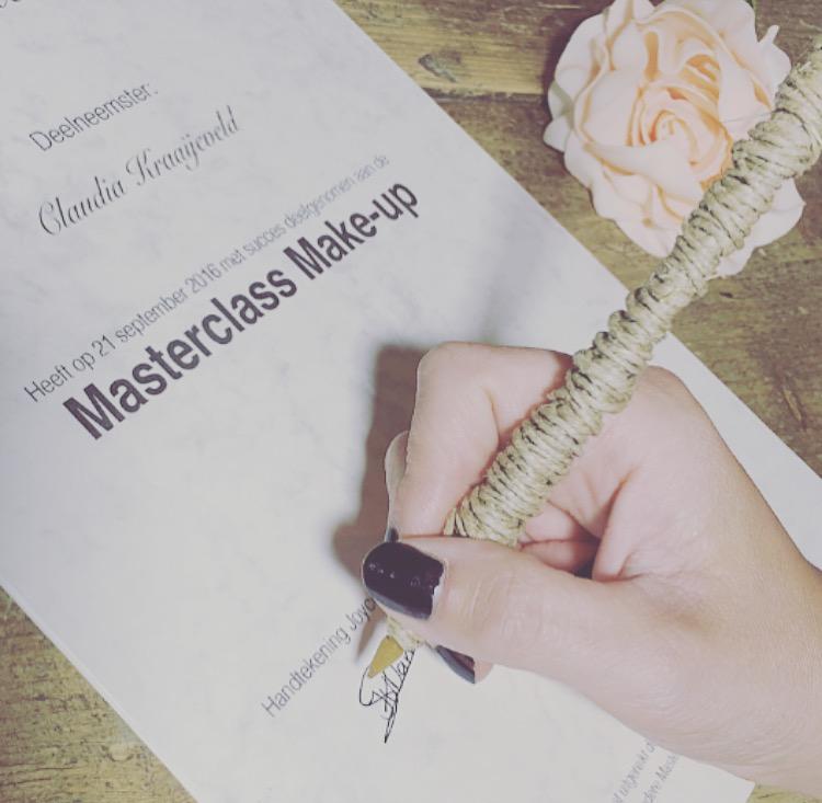De masterclass make-up van woensdag 21 september 2016